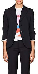 Prada Women's Wool Two-Button Blazer & Leather Belt - Navy