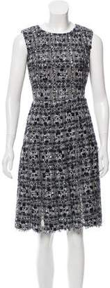 Oscar de la Renta Embellished Knee-Length Dress