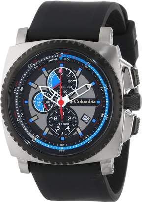 Columbia Men's CA100003 AQ Alti Square Analog Multi-Function Silicone Strap Watch