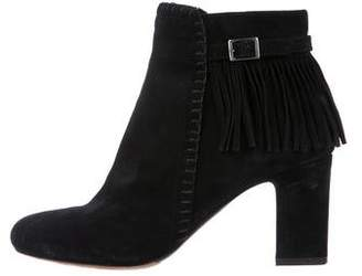 Tabitha Simmons Fringe Suede Ankle Boots