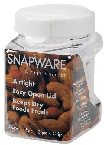 Snapware 1022 Square-Grip Canister 32-oz