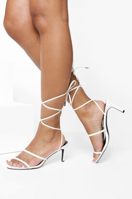 boohoo Skinny Strap Low Heel Sandals