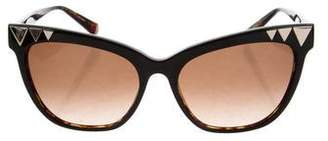 Cat Eye Kate Young for Tura Tinted Cat-Eye Sunglasses