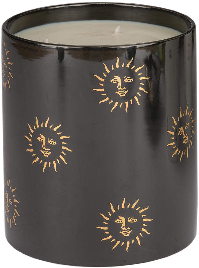 Large Black Sun Candle