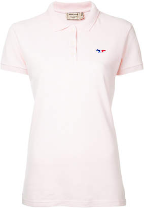 MAISON KITSUNÉ embroidered fox polo shirt
