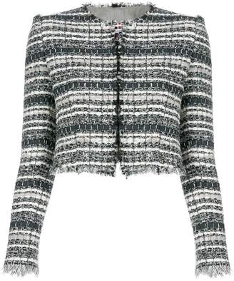 Thom Browne Banker Stripe Lace Ribbon Cardigan Jacket