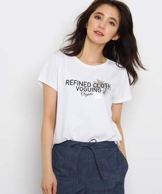 INDIVI (インディヴィ) - INDIVI 【VERY5月号掲載】[L]箔プリントロゴTシャツ