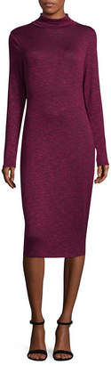 PROJECT RUNWAY Project Runway Long Sleeve Hacci Foil Bodycon Dress