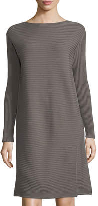 Lafayette 148 New York Long-Sleeve Pintuck-Stitched Dress