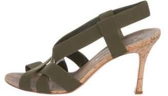 Manolo Blahnik High-Heel Strap Sandals Green High-Heel Strap Sandals