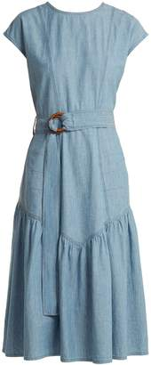 MiH Jeans Aubrey Chambray midi dress