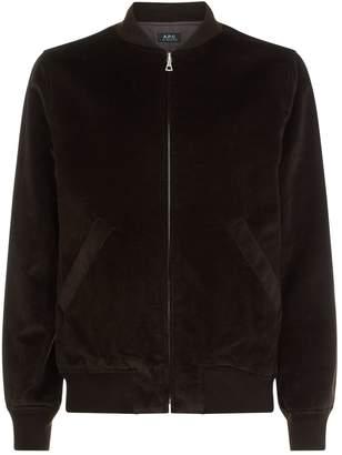 A.P.C. Barett Velour Bomber jacket