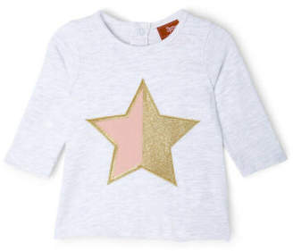 Sprout NEW Girls Star Top Grey Marle