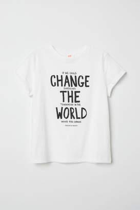 H&M Slub Jersey T-shirt - White