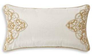 Waterford Shelah Embroidered Neck Roll Decorative Pillow, 11 x 20