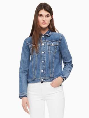 Calvin Klein patchwork denim trucker jacket