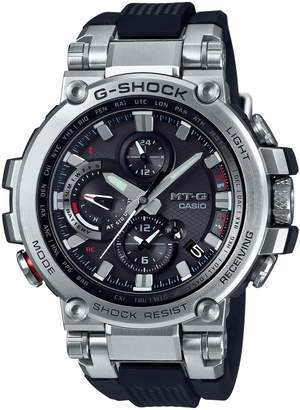 Casio MTG Twisted Metal Stainless Steel Analogue Solar Watch