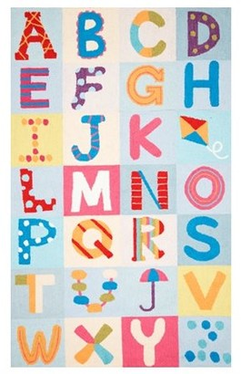 nuLoom Hand-Hooked Alphabet Boxes Area Rug