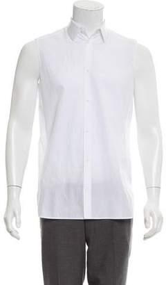 Balenciaga Sleeveless Button-Up Shirt