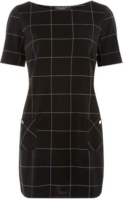 Dorothy Perkins Womens Monochrome Checked Tunic Top