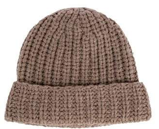 Aqua Wool Knit Beanie