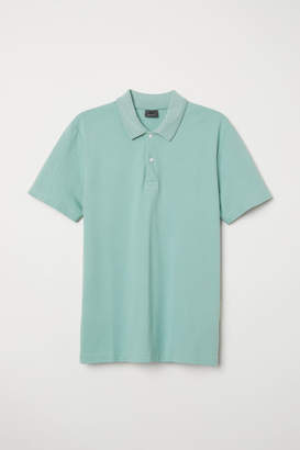 H&M Premium Cotton Pique Shirt - Green