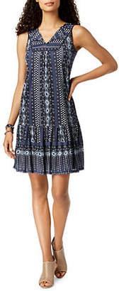 Style&Co. STYLE & CO. Printed Sleeveless Swing Dress