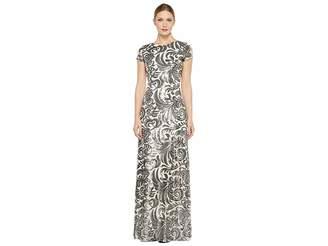 Donna Morgan Simone - Beaded Cap Sleeve Dress Women's Dress