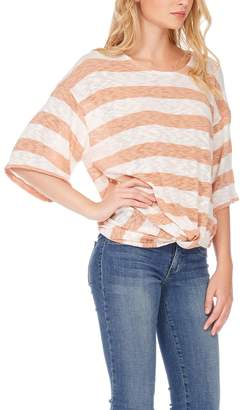 Anama Striped Knotted-Hem Top