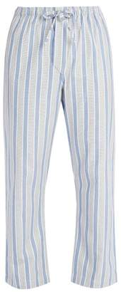 Derek Rose Cotton Pyjama Trousers - Mens - Blue
