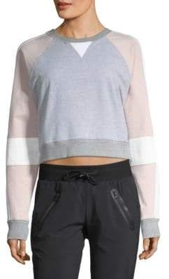 Blanc Noir Flashback Crop Sweatshirt
