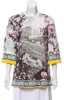 Dolce & Gabbana Jacquard Printed Top w/ Tags
