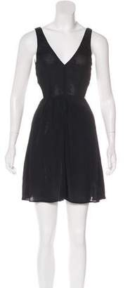 Reformation Sleeveless Pleated Dress