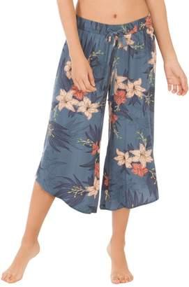MIDNIGHT BAKERY Floral Crop Pajama Pants