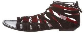 Cesare Paciotti Suede Lace-Up Sandals
