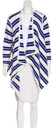 Yigal Azrouel Striped Open Cardigan