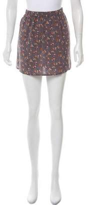 Hartford Printed Silk Skirt w/ Tags