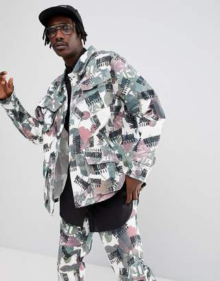 Billionaire Boys Club Jacket With All Over Floral Print