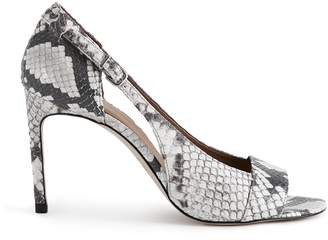 Reiss ELLEN SNAKE CUT OUT DETAIL OPEN TOE SANDALS Snake Print