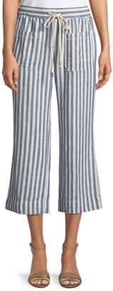 Splendid Striped Flare-Leg Cropped Pants