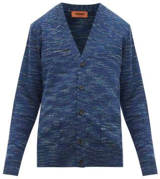 Missoni Space Dyed Wool Cardigan - Mens - Navy