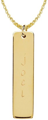 Posh Mommy 18K Gold-Plated Tall Tag Pendant with Chain