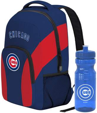 DAY Birger et Mikkelsen Chicago Cubs Draft Backpack with 24-Ounce Pull-Cap Water Bottle by Northwest
