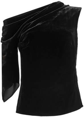 Peter Pilotto Asymmetric Velvet Top with Silk