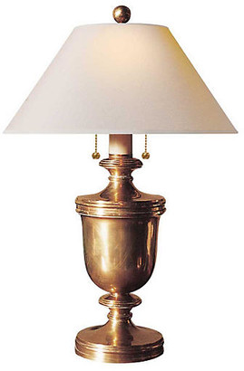 Visual Comfort & Co. Urn Table Lamp - Brass/Natural