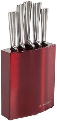 Morphy Richards Accents 5 Piece Knife Block Red