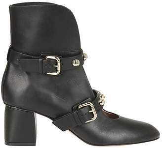 RED Valentino Open Front Ankle Boots