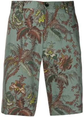 Etro floral print shorts
