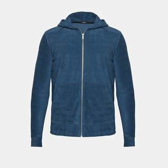 Theory Cotton Terry Zip-Up Hoodie