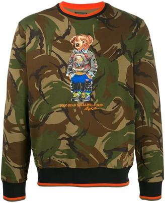 Ralph Lauren printed Polo Bear sweatshirt